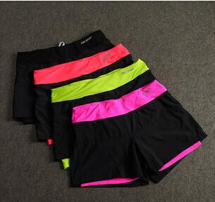 2015 новая Женщина Фитнес одежды На Открытом Воздухе быстросохнущие шорты бег Gym ...