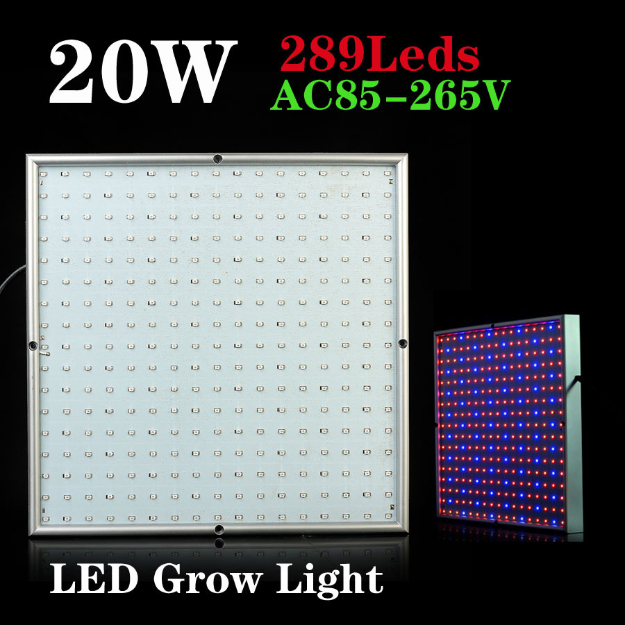 20W 289pcs chips SMD Red and Blue led grow light for flowering plant and hydroponics system AC85-265V Free Shipping(China (Mainland))