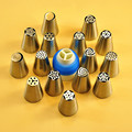 15pcs Russian Nozzles 3 1 4 1cm Stainless Steel Nozzles Cake Tips Add Icing Piping Bags