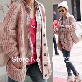 Women Long cardigan single breasted jacket outwear+free shipping Best Selling!!
