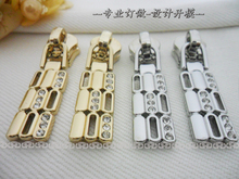 # 5 high quality slide fastener metal slide fastener diamond haute couture purses wholesale(China (Mainland))
