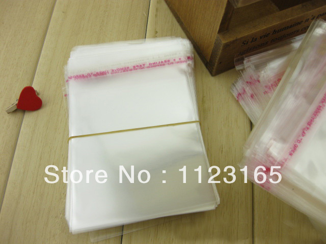 15*21cm,200pieces X Self Adhesive Seal OPP plastic bag - Clear reclosable Poly bag Fabric/Book Packaging pouch(China (Mainland))