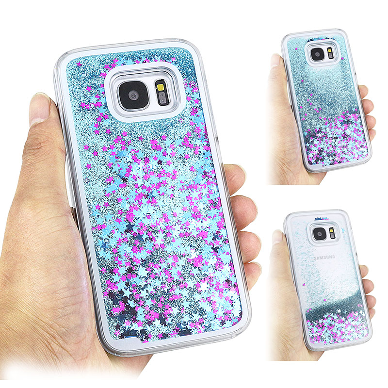 J5 Clear Glitter Stars Dynamic Water Liquid Case for Samsung Galaxy J5 Plastic Cover Phone cases For Samsung J5(China (Mainland))