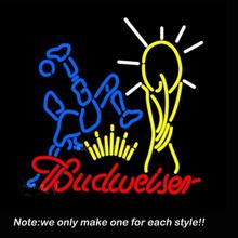 Budweiser Footballer Neon Sign Art Glass Tube Business Pub Handcraft Neon Bulbs Store Display Decorate Great Gifts 24×20