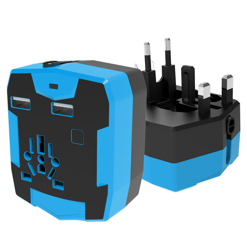 Best Worldwide Travel Adapter with Dual USB Ports and Power Bank Universal US UK EU AU Mobile Phone Battery Charger(China (Mainland))