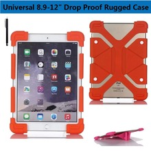 Universal 8.9, 9, 10.1 -12″ inch Tablet Silicone Shockproof Case Light Weight Kids Super Protection Cover Drop Proof Rugged Case