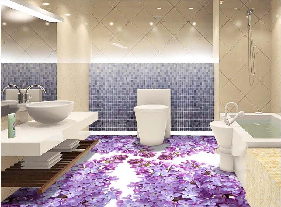 Online buy wholesale purple floor tile from china purple for Purple kitchen wallpaper