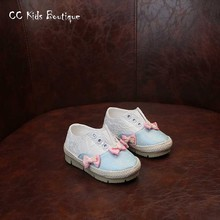 2016 new autumn children lace sneakers for kids brand pink sneaker baby girls butterfly shoes toddler sneakers platform sneakers(China (Mainland))