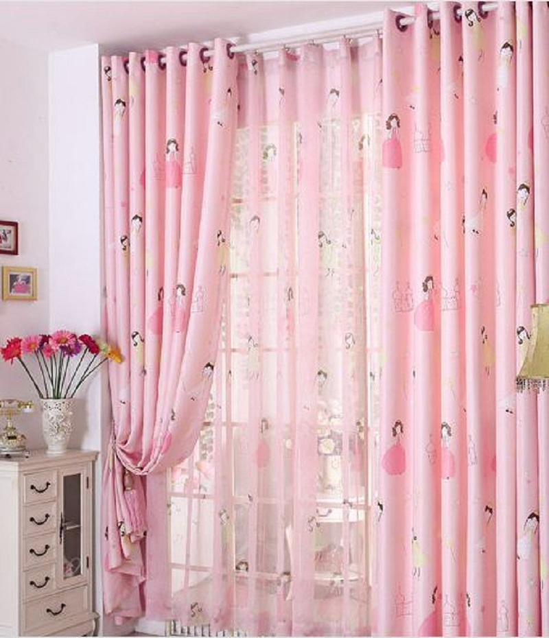 Comblackout Curtains For Kids Rooms : Princess Blackout Window Curtains For Kids Girls Bedroom Living room ...