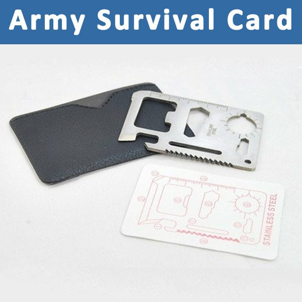 11 in 1 Multi Function Camping Hunting Knife Emergency Outdoor Multi Tool Army Survival Card Pocket