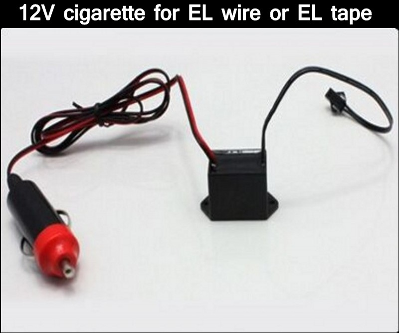 Car, Vehicles accessories 12V cigarette Driver/Inverter for up to 5meters flexible led neon CHASING Glow EL Wire tape<br><br>Aliexpress
