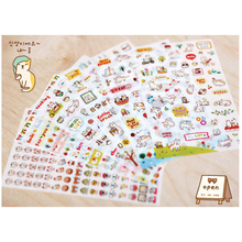 6 Pcs Pack Korea Emoji stickers DIY fun font b anime b font Decorative stickers stickers