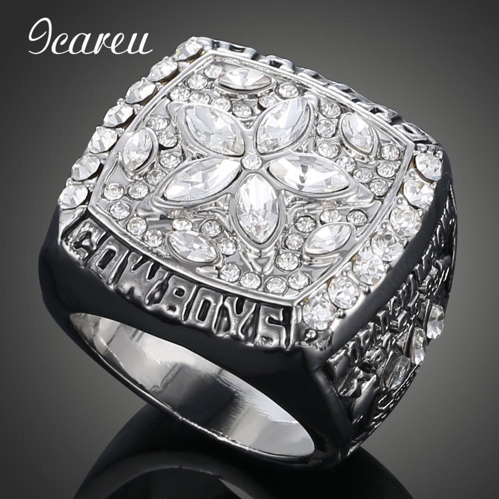 Unique Fashion Rings NFL American Football 1995 Dallas Cowboys Super Cup Championship Rings(China (Mainland))
