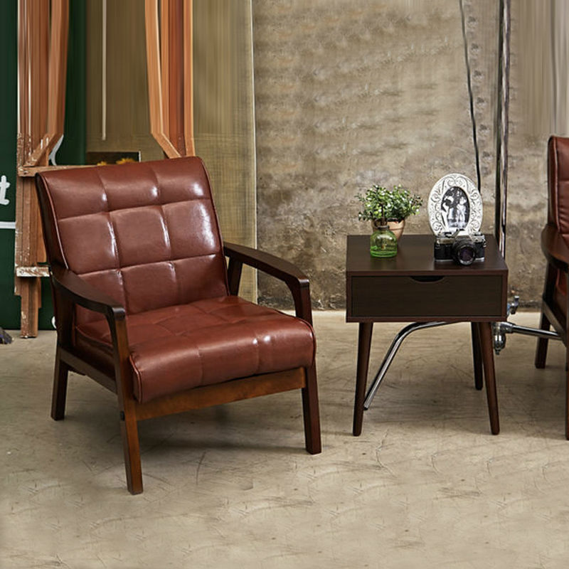 Simple Chair Armchair Sofa Set Living Room Furniture Home Furniture Leather S