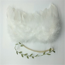 Newborn Photography Props Infant Baby Girls White Angel Feather Wings Feather Photo Prop Wings Clothing Girls Hair Accessories(China (Mainland))