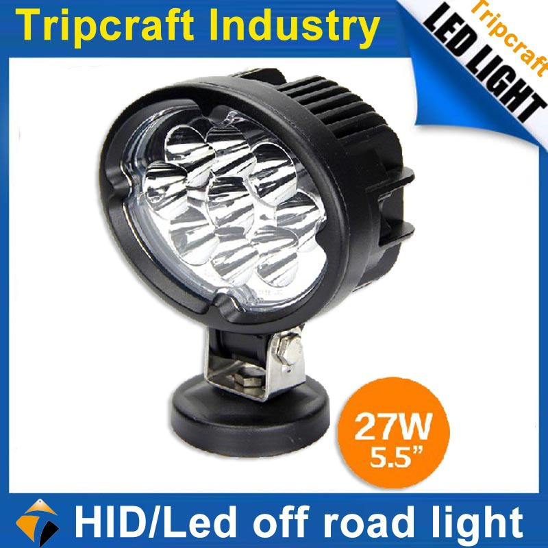 20% discount off 2pcs 27w Led Work Light Waterpoof IP67 Driving Flood Lamp for Tractor Truck Trailer SUV Off roads 4WD 4x4 light(China (Mainland))