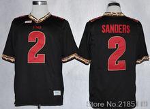 2 Deion Sanders 2013 Throwback College Jersey Rose Bowl Game black Jersey(China (Mainland))