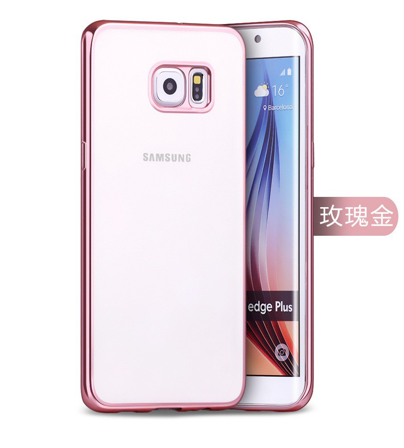 Phone Case For Samsung Galaxy S5 S6 S7 Thin Clear Plating Electroplating TPU Mobile Phone Cover For Samsung Galaxy Note 3 4 5