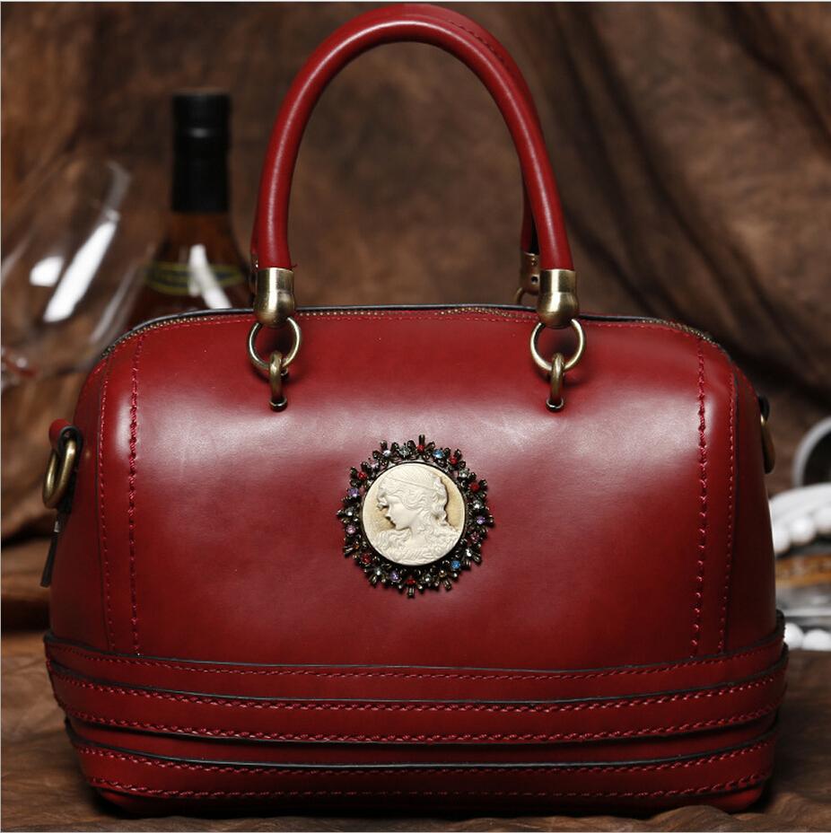 2016 Newest Fashion Retro designer Women genuine leather handbag\bag, ladies' shoulder bag \Quality Guaranteed Free shipping(China (Mainland))