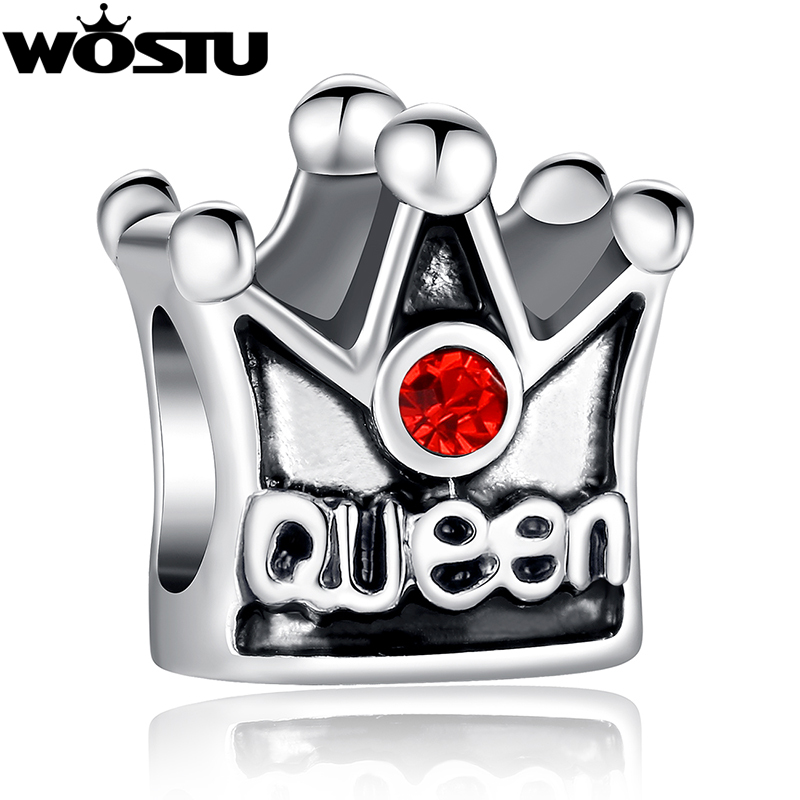 TOP Quality Silver Queen Crown Charm Beads Fit Original Pandora Bracelet Pendants For Women DIY Jewelry Free Shipping(China (Mainland))