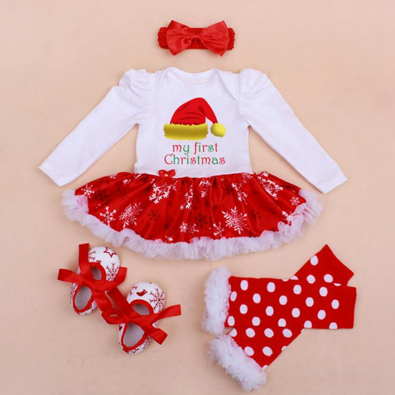The sizes are illustrated with specific measurements in the detailed  specifications. - 2019 Wholesale My First Christmas Baby Girl Clothes Lace Romper