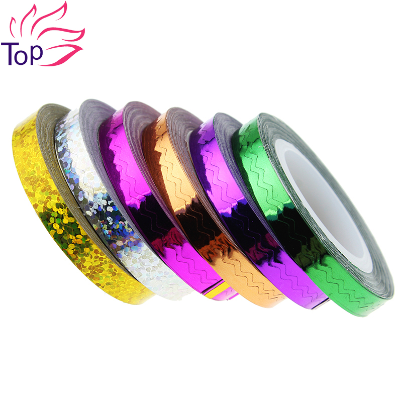 6 Color Choice Beauty Rolls Waves Striping Decals For Nails Foil Tips Tape Line DIY Design Transfer Nail Art Stickers JH236<br><br>Aliexpress