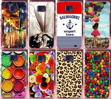 NewClear sides Hot selling 17 patterns  mobile cell phone case hard Back cover Skin Shell for Samsung Galaxy S2 i9100 9100