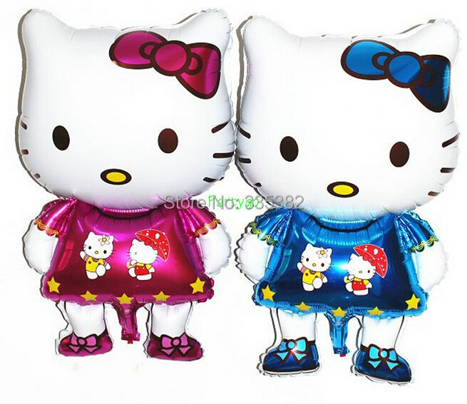 Здесь можно купить  NEW!!!50pcs/Lot Newest Cartoon Aluminum Happy Birthday Decoration Hello Kitty foil Balloon for Kids Party Supplies helium Ballon NEW!!!50pcs/Lot Newest Cartoon Aluminum Happy Birthday Decoration Hello Kitty foil Balloon for Kids Party Supplies helium Ballon Игрушки и Хобби