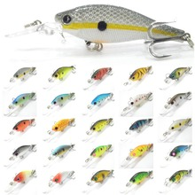 Fishing Lure Minnow Crankbait Hard Bait Fresh Water Shallow Water Bass Walleye Crappie Minnow Fishing Tackle M515X8