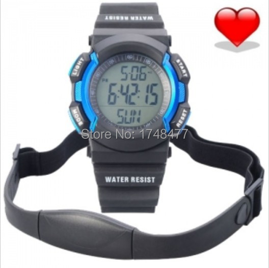 Wireless Heart Rate Monitor Step counting, calorie, distance, Sport Waterproof Fitness Watch with Pedometer for Running 18 color(China (Mainland))