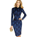 eSale Women s Elegant Floral Lace Turn Down Collar Wear to Work Office Business Party Sheath