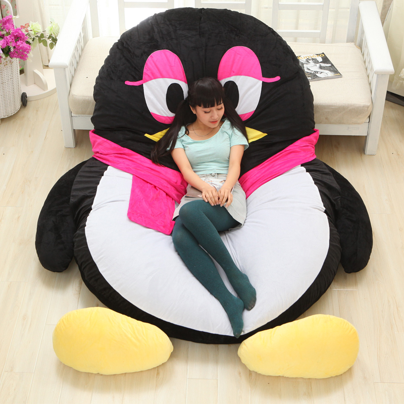 Luxury Modern Cartoon Penguin Large Floor Cushion Dome Decor Pillow Big Outdoor Chair Cushions Pad Decoration Bed Mattress Kids - Home Textile Factory store
