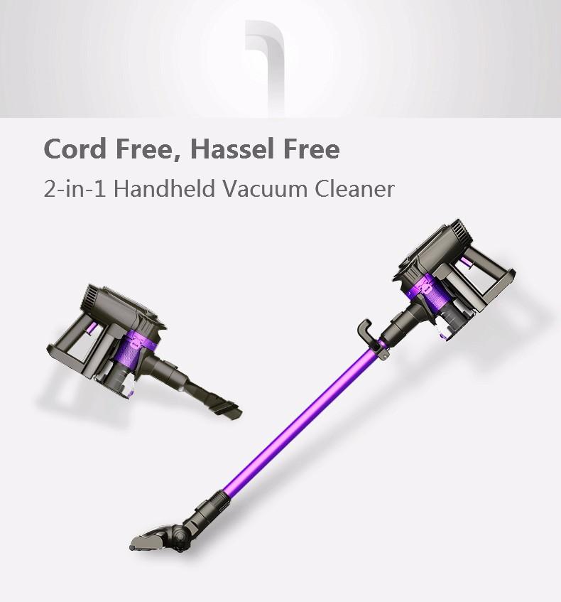 Dibea F6 2-in-1 Wireless Vacuum Cleaner Upright Stick and Handy Vacuum Carpet Cleaning Powerful Car Vacuum Cordless Vacuum(China (Mainland))