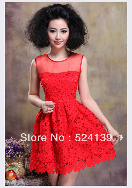 2013 Hot Noble  Cute Lace Dress A-line Dress Off the Shoulder Dress Free Shipping Y09