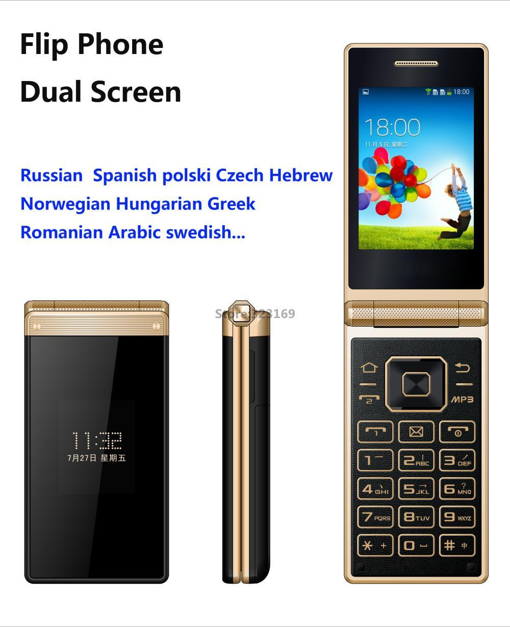 unlocked original big Key Senior mobile phone GSM old man cell phone clamshell phone flip phone dual sim Big Russian keyboard