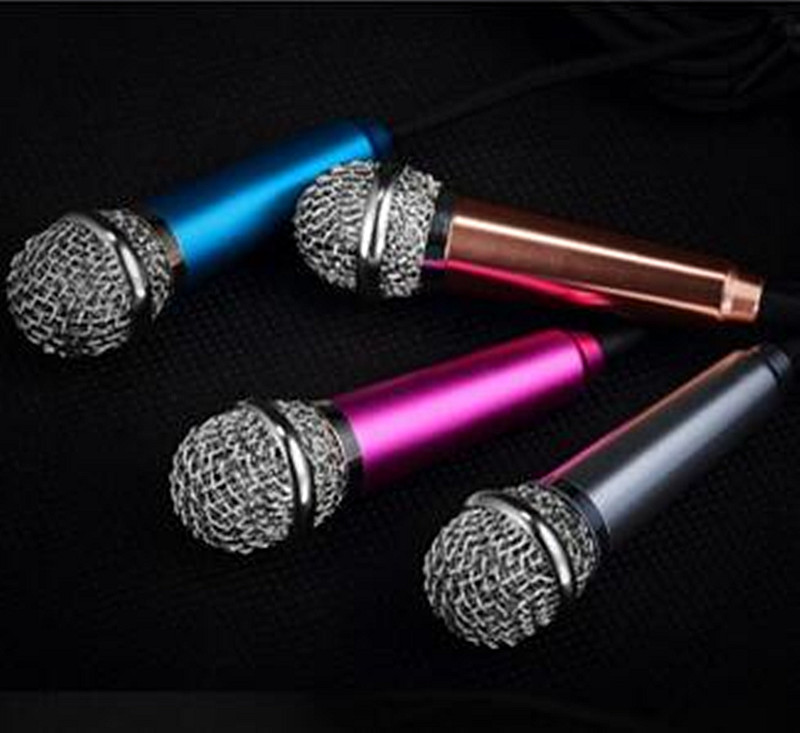 3.5mm Wired Clip On Mini Lapel Mini Headset Microphone For Phone Sing Song Karaoke Microphone free shipping(China (Mainland))