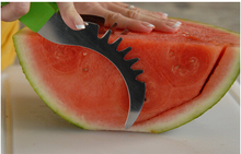 500 pcs Watermelon Slicer & Server Knife With Stainless Stee- Strawberry Huller Not Sharp KID-FRIENDLY And Environmentally Safe(China (Mainland))
