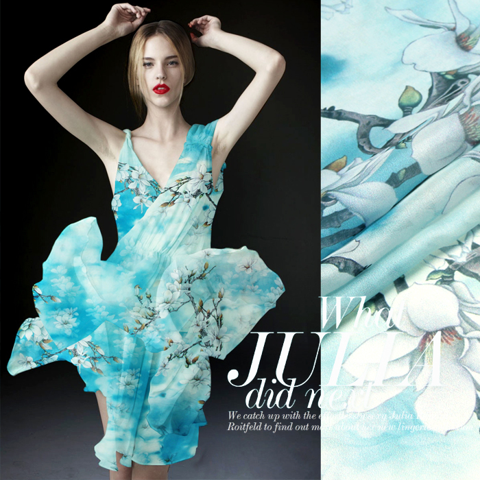 Blue Chiffon Fabric For Sale Blue Silk Chiffon Fabric