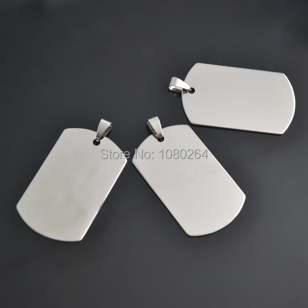 (100 pieces/lot) 30.2*50.5 mm Stainless Steel Stamping Blanks Dog Tag Pendant(China (Mainland))
