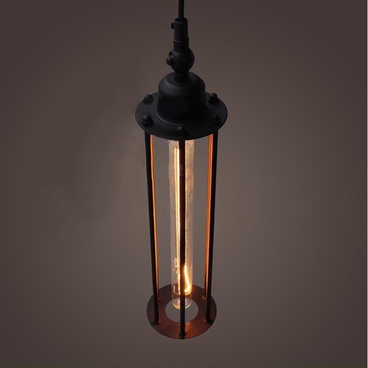 personality american vintage wrought iron pendant lights. Black Bedroom Furniture Sets. Home Design Ideas