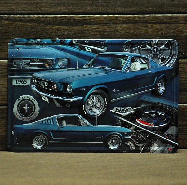 [ Mike86 ] 1965 Blue Car Tin sign Art wall decor House Bar retro Metal signs A-206 Mix order 20*30 CM Free Shipping(China (Mainland))