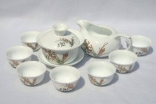 10pcs smart China Tea Set Pottery Teaset Cymbidium A3TM22 Free Shipping