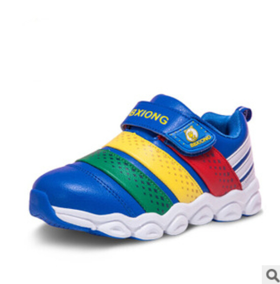 The new 2015 during the spring and autumn kids shoes boys and girls spell color slippery wear-resisting leisure sports shoes(China (Mainland))