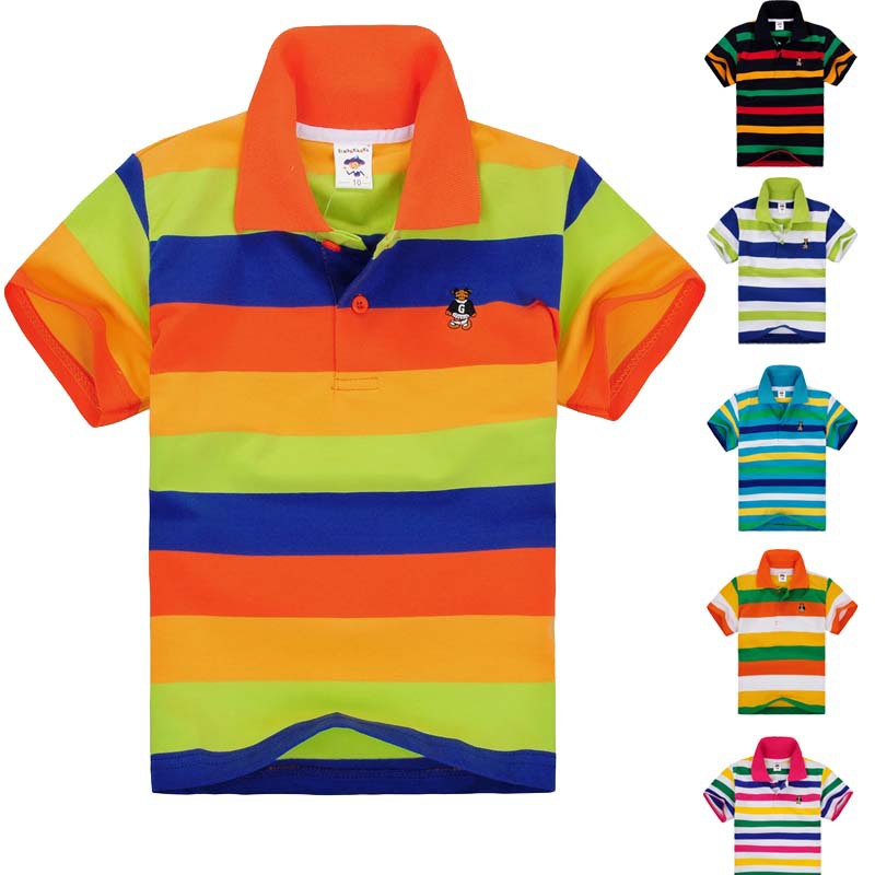 boys girls polo shirt kids baby little toddler big boy clothes summer style short sleeve soft cotton clothing