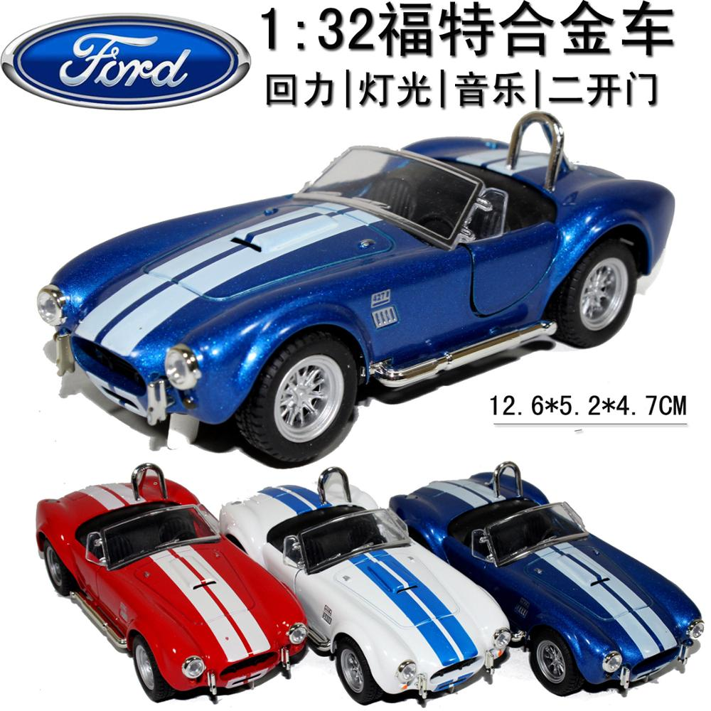 Blue Toy Collection anime figure action For Boy Children New Ford 1965 Shelby Cobra 1:32 Alloy Diecast Model Car(China (Mainland))