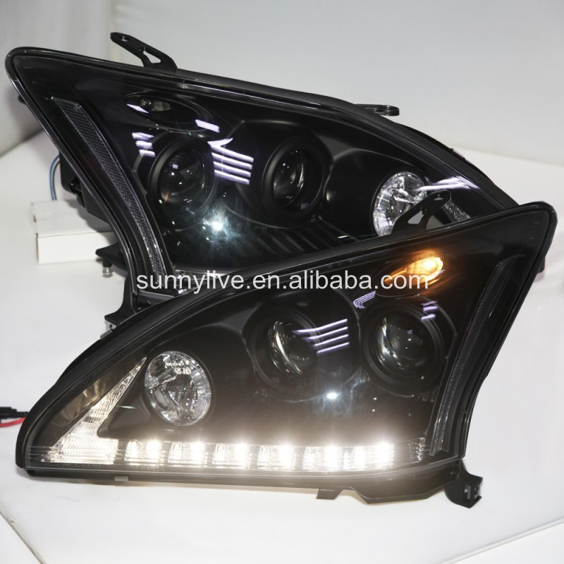 led Head Lamp for Lexus RX330 RX300 R350 2003 - 09 Black SN(China (Mainland))