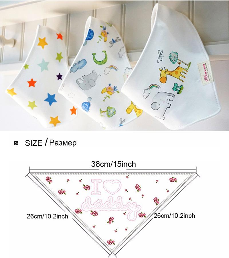 Здесь можно купить  Wholesale Waterproof Baby Bibs Cotton Bandana Bibs Infant Babador Saliva Bavoir Towel Cotton Triangle Feeding Accessories  Детские товары