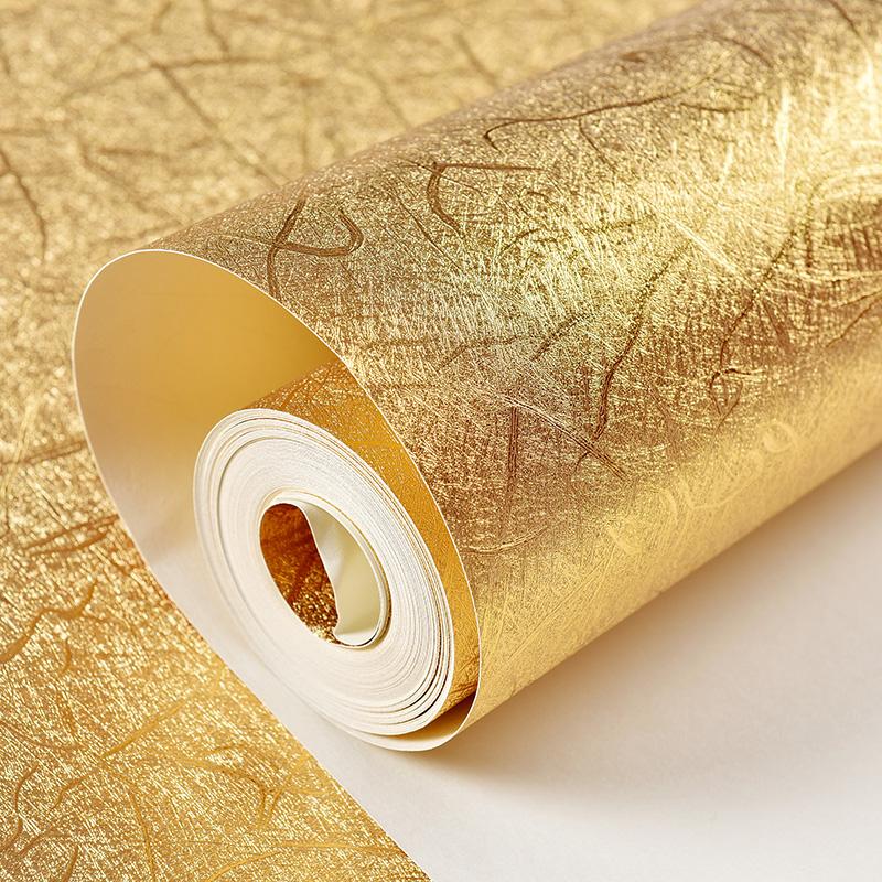Online kaufen gro handel silberfolie tapeten aus china for 3d tapete gold