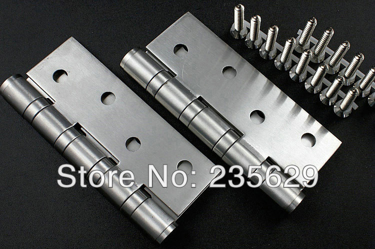 Free Shipping, 201S.S. ball bearing hinge,4inch*3inch*3mm, Hinges for doors, switching flexibility, no noise, long life(China (Mainland))