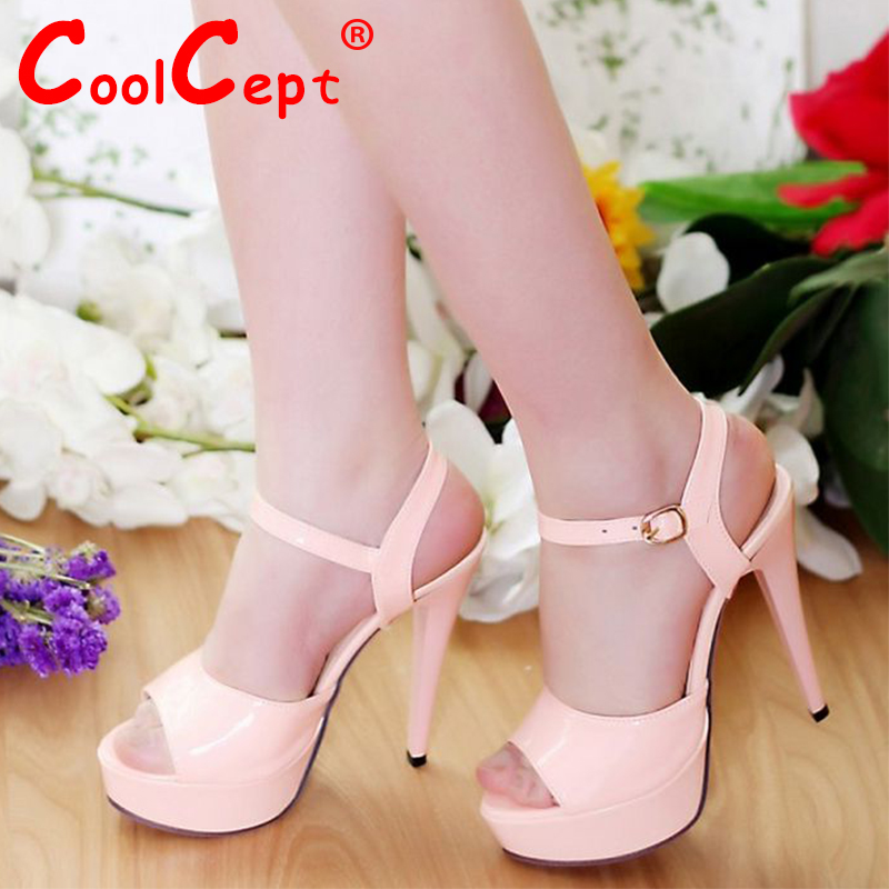 women high heel sandals sexy brand ankle strap ladies platform summer fashion party footwear shoes heels size 34-42 P23466<br><br>Aliexpress